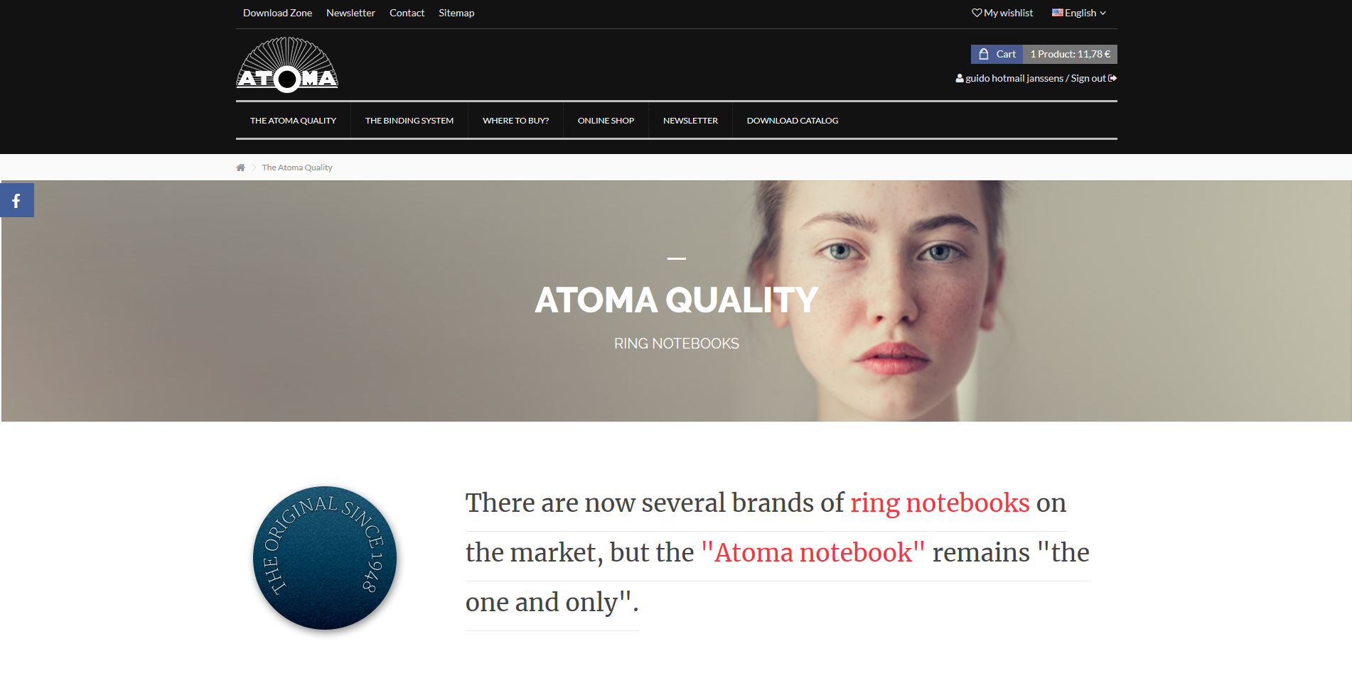 atoma e-commerce website
